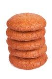 开胃五个蛋白杏仁饼干堆 免版税库存图片