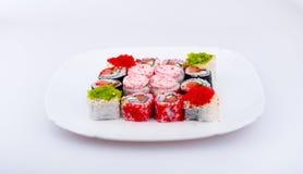 开胃做的盘寿司 免版税库存照片