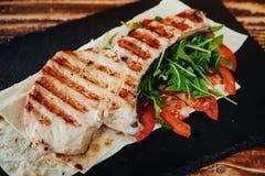 开胃和可口烤肉盘 库存图片