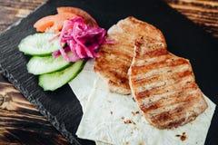 开胃和可口烤肉盘 库存照片