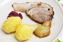 开胃和鲜美烘烤猪 库存照片