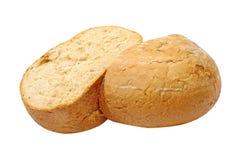 开胃嘎吱咬嚼的面包。隔绝。 库存照片