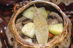 开胃土豆用蘑菇 库存照片
