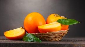 开胃填充柿子制表木 库存照片