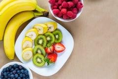 开胃套新鲜水果 免版税库存图片
