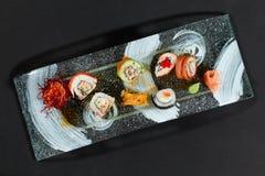 开胃寿司板材 免版税库存照片