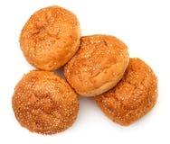 开胃小圆面包堆积芝麻 免版税库存照片