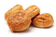 开胃小圆面包堆芝麻 库存照片