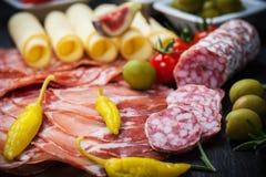 开胃小菜和承办酒席盛肉盘 库存图片