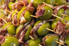 开胃小菜或Entrada在马德里商店 免版税库存照片