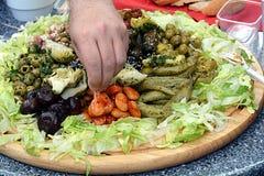 开胃小菜板材 免版税库存图片