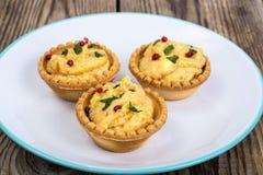 开胃小菜果子馅饼用柔和的奶油甜点 库存图片