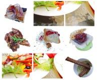 开胃小菜烹调要素haute salat 库存照片