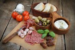 开胃小菜种类。 免版税库存图片