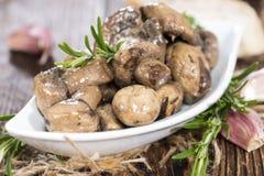 开胃小菜蘑菇 免版税库存图片