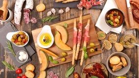 开胃小菜,自助餐食物 免版税图库摄影
