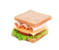 开胃干酪火腿三明治 免版税库存图片