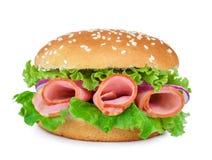 开胃干酪火腿三明治 免版税库存照片