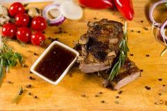 开胃很好熟肉用调味汁 库存照片