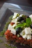 开胃接近的希腊沙拉 免版税库存图片