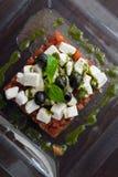 开胃接近的希腊沙拉 免版税库存照片