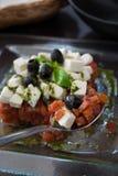 开胃接近的希腊沙拉 免版税图库摄影