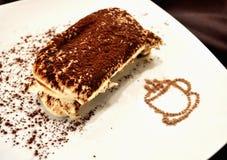 开胃提拉米苏蛋糕点心 库存图片