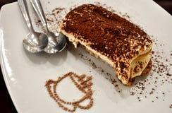 开胃提拉米苏蛋糕点心 库存照片