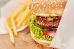 开胃新汉堡关闭 免版税库存图片