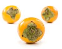 开胃新鲜的柿子 免版税库存照片
