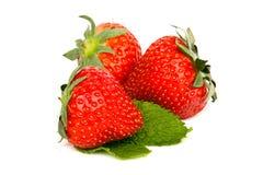 开胃新鲜的甜草莓 免版税库存图片