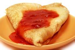 开胃新鲜的薄煎饼 免版税库存图片