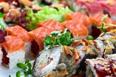 开胃日本寿司 免版税图库摄影