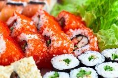 开胃日本寿司 免版税库存图片