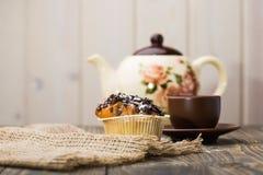 开胃早餐新鲜的杯形蛋糕 免版税库存照片