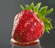 开胃水多的草莓 库存照片