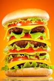 开胃汉堡包鲜美黄色 免版税图库摄影