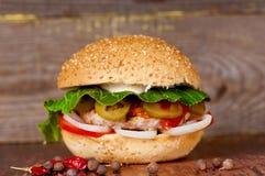 开胃汉堡特写镜头 免版税库存照片