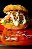开胃汉堡 免版税库存照片