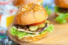 开胃汉堡 免版税图库摄影