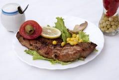 开胃油煎的水多的肉 免版税库存照片