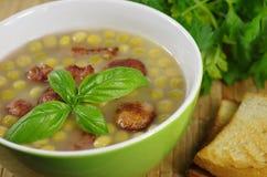 开胃浓豌豆汤 免版税库存图片