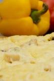 开胃火腿和乳酪薄饼 免版税库存图片
