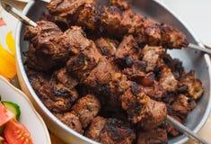 开胃烘烤肉烤肉串 免版税库存照片