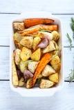 开胃烤箱被烘烤的菜 免版税图库摄影