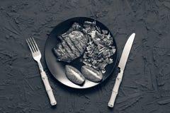 开胃烤肉牛排 免版税库存图片