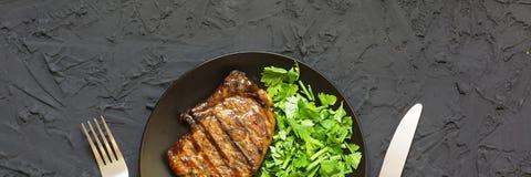 开胃烤肉牛排bbq 图库摄影