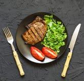 开胃烤肉牛排bbq 免版税库存照片