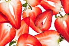 开胃片式草莓 免版税库存照片