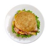 开胃牌照三明治 免版税图库摄影